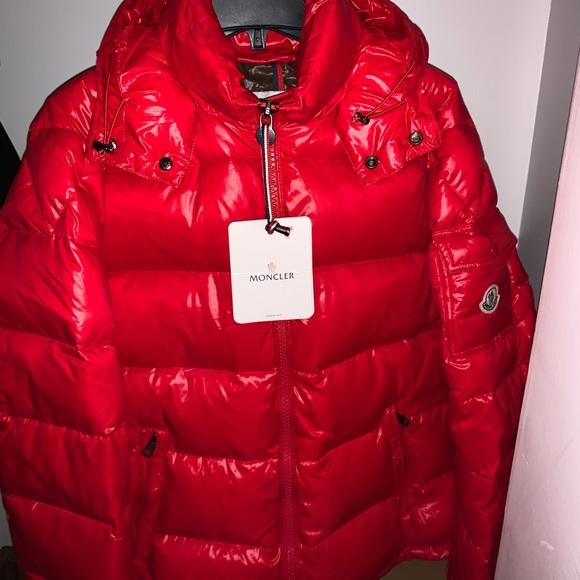 Red moncler maya jacket
